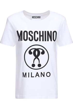Moschino Logo Cotton Jersey Slim T-shirt
