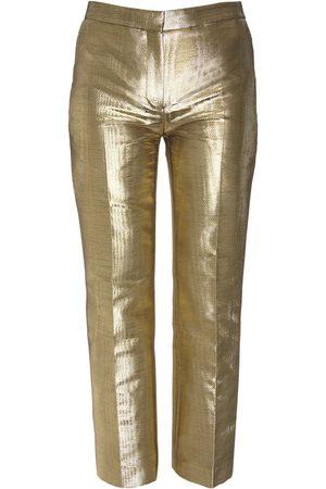 Alexander McQueen Moiré Cigarette Crop Pants