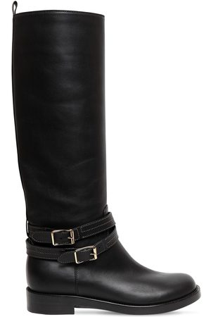 Gianvito Rossi 20mm Belted Leather Tall Boots