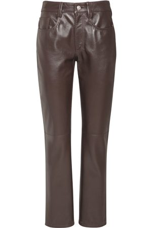 MM6 MAISON MARGIELA Leather Straight Pants