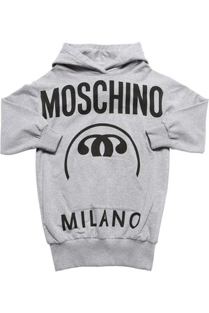 Moschino Logo Print Cotton Sweat Dress Hoodie
