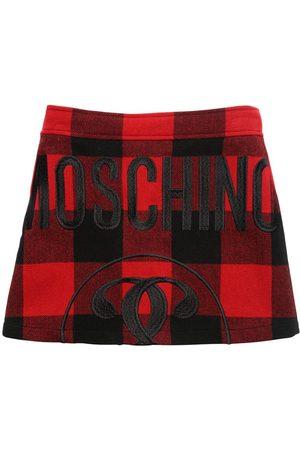 Moschino Tartan Wool Blend Skirt