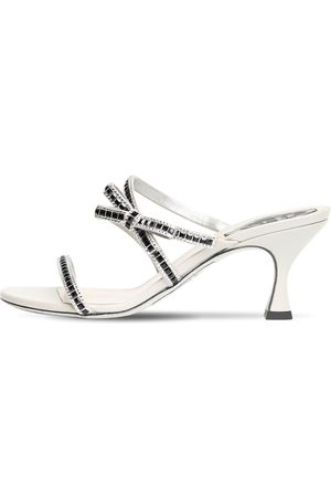 RENÉ CAOVILLA 65mm Embellished Satin Sandals