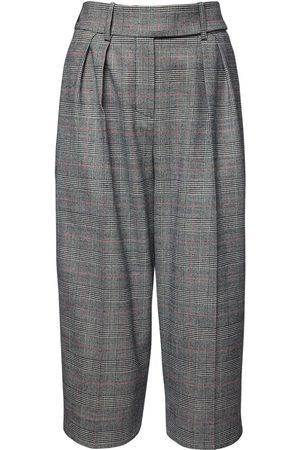 ALEXANDRE VAUTHIER Wool Prince Of Wales Bermuda Shorts