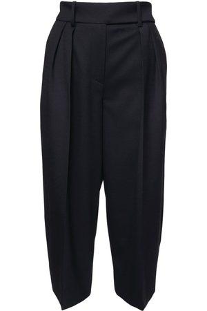 ALEXANDRE VAUTHIER High Waist Wool Flannel Bermuda Shorts