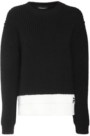 Rochas Rib Knit Wool Sweater W/ Logo Detail