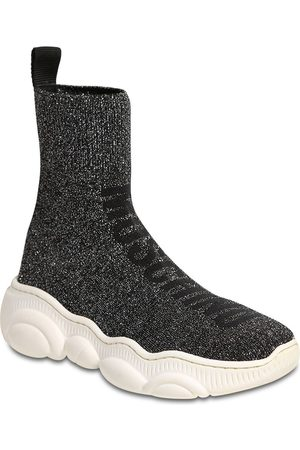 Moschino Glittered Knit Sock Sneakers
