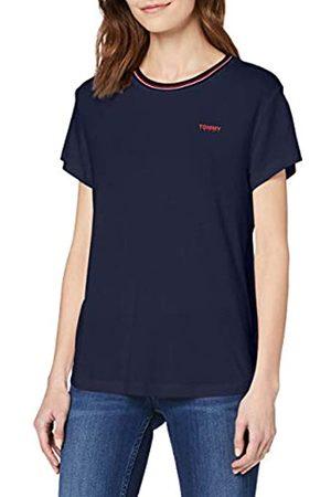 Tommy Hilfiger Women's TJW Rib Neck TEE Sports Knitwear