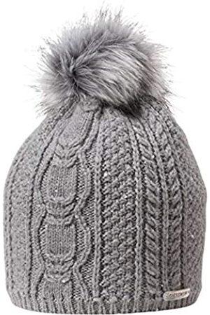 Giesswein Beanie Landskrone ONE - Merino Wool hat with Cashmere, Warm Fleece Insert, Faux Fur Bobble, Bobble hat with Glitter Yarn