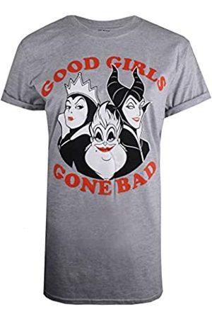 Disney Women's Good Girls Gone Bad Villians T-Shirt, ( Marl SPO)
