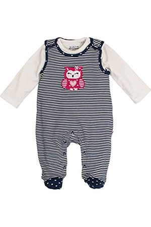 Salt & Pepper Salt and Pepper Baby Girls' NB Playsuit Happy Stripe Footies