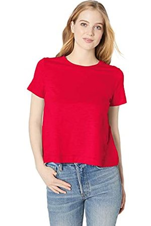 Daily Ritual Lightweight Lived-in Cotton Short-sleeve Swing T-shirt Bright Coral