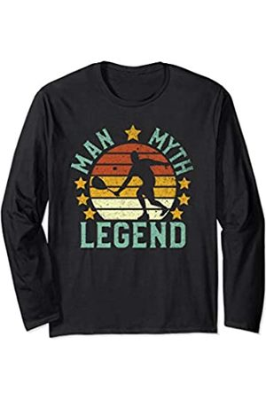 Parabolic Dad Vintage Racquetball Player Man Myth Legend Funny Gift Long Sleeve T-Shirt