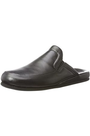 Beck Men's Joseph Open Back Slippers, (Schwarz 02)