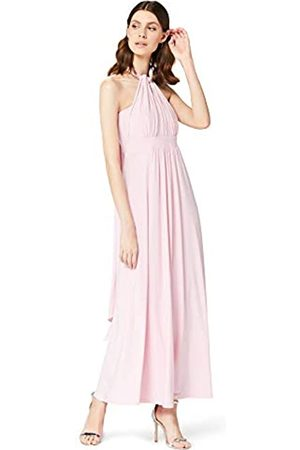 TRUTH & FABLE Amazon Brand - Women's Maxi Halter Dress, 10