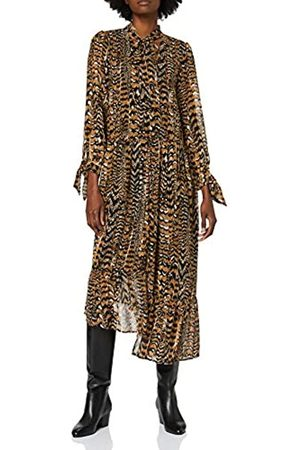 warehouse Women's Feather Print Dress