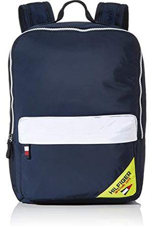 Tommy Hilfiger Kids Square Backpack Sailing, Unisex Kids' Backpack, (Corporate/Fluro)