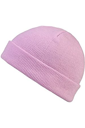 MSTRDS Unisex_Adult Short Pastel Cuff Knit Beanie Hat