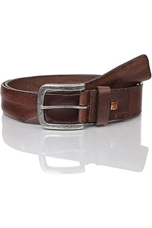 Lindenmann The Art of Belt Mens leather belt/Mens belt, full grain leather belt with embossing, unisex, Größe/Size:110