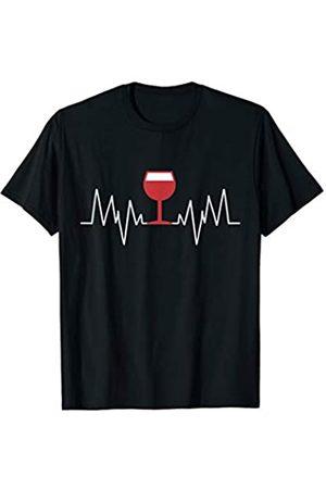 Funny Wine Lover Gift Ideas Wine Heartbeat Wine ECG Lover Funny Gift Idea T-Shirt
