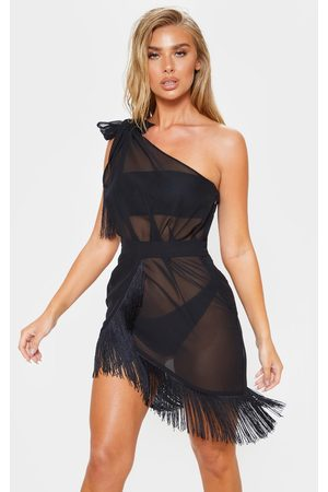 PRETTYLITTLETHING Women Asymmetrical Dresses - Asymmetric Fringe Beach Dress