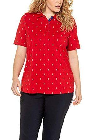 Ulla Popken Women's Große Größen Poloshirt Ankerprint, Pima Cotton, Classic T-Shirt