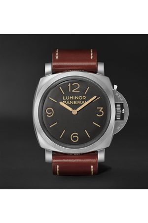 PANERAI Men Watches - Luminor 1950 Hand-Wound 47mm Stainless Steel and Leather Watch, Ref. No. PAM00372