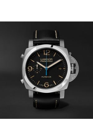 PANERAI Men Watches - Luminor 1950 3 Days Chrono Flyback Automatic Acciaio 44mm Stainless Steel and Leather Watch, Ref. No. PAM00524