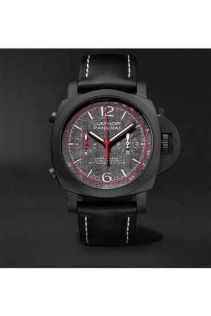 PANERAI Men Watches - Luminor Luna Rossa Challenger Automatic Flyback Chronograph 44mm Ceramic and Leather Watch