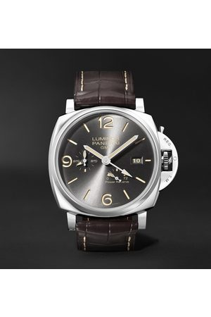 PANERAI Men Watches - Luminor Due GMT Automatic 45mm Stainless Steel and Alligator Watch, Ref. No. PAM00944
