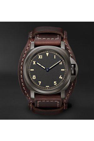 PANERAI Men Watches - Luminor California 8 Days DLC Hand-Wound 44mm Titanium and Leather Watch