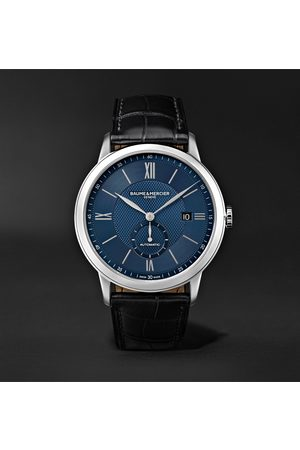 Baume & Mercier Men Watches - Classima Automatic 42mm Stainless Steel and Alligator Watch, Ref. No. M0A10480