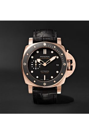 PANERAI Men Watches - Submersible Automatic 42mm Goldtech and Alligator Watch, Ref. No. PAM00974