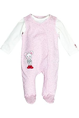 Salt & Pepper Salt and Pepper Baby Girls' BG Playsuit Allover Maus OCS Footies