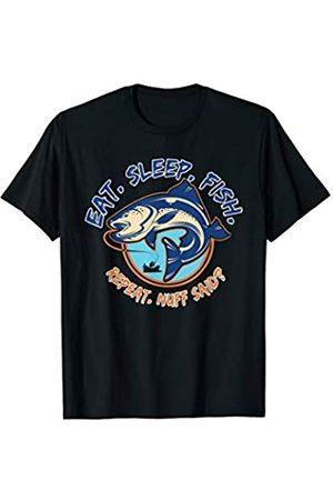 Design Tribe - Fish Commando Eat - Sleep - Fish - Repeat, Funny Fishing Shirt