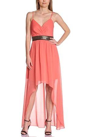 Manoukian Women's XGX6X279 Cocktail Sleeveless Dress - - (Coral Rose) - 14 (Brand size: 40)