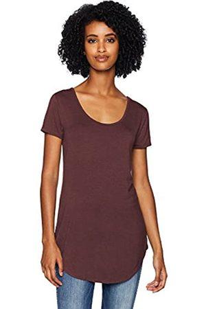 Daily Ritual Jersey Short-sleeve Scoop-neck Longline T-shirt Heather