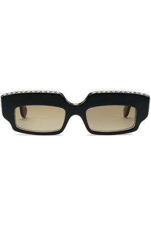 Gucci Rectangular-frame crystal-embellished sunglasses