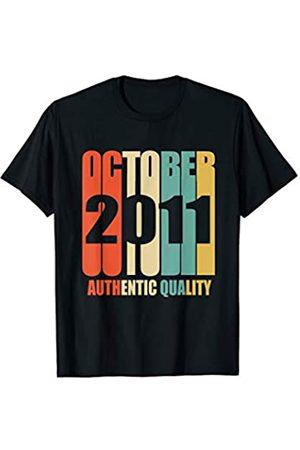 Retro Blink Imprints Retro October 2011 T-Shirt 7 yrs old Bday 7th Birthday Tee