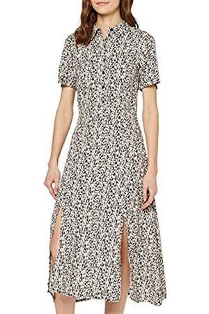 FIND Amazon Brand - Women's Midi Floral Shirt Dress, 8
