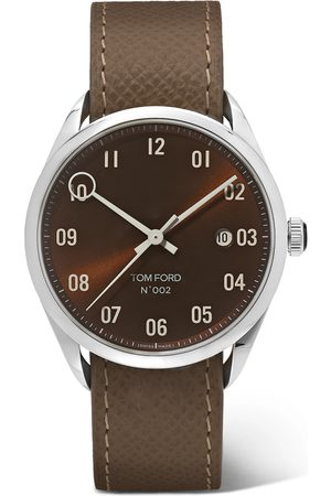 Tom Ford Men Watches - 002 40mm Stainless Steel and Pebble-Grain Leather Watch