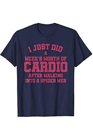 Working out funny exercise tees Tshirt I just did a week's w