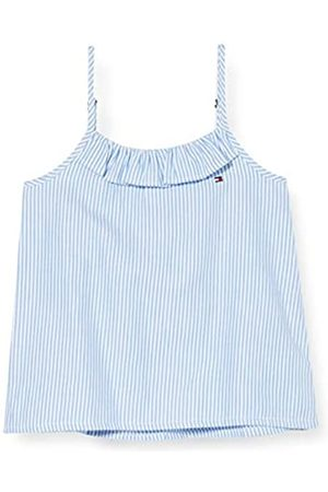 Tommy Hilfiger Girl's Ithaca Stripe TOP Slvls Sports Shirt, ( /Calm 0K4)