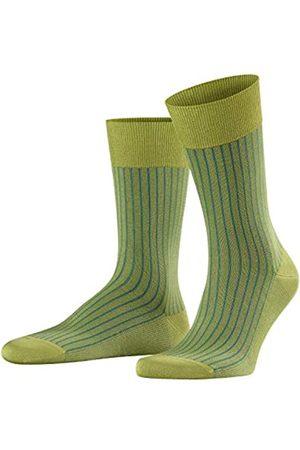 Falke Men Oxford Stripe Socks - Cotton Blend, (Lime 7126), UK 11.5-12.5 (Manufacturer size: 47-48)