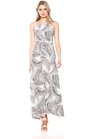 28 Palms Tropical Hawaiian Print Halter Maxi Dress Casual