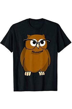 Owl Hoot Vibes Tees Owl With Glasses Icon Style Nocturnal Predator Bird Gift T-Shirt