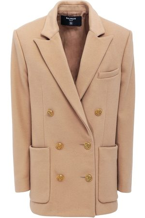 Balmain Wool & Cashmere Double Breast Jacket
