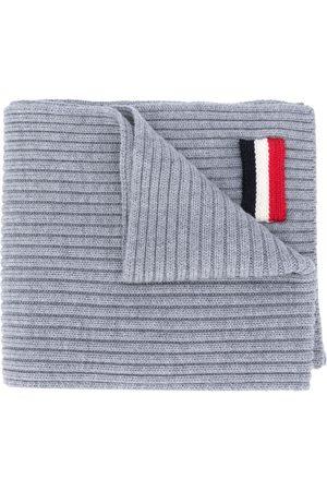Moncler Tricolour patch scarf