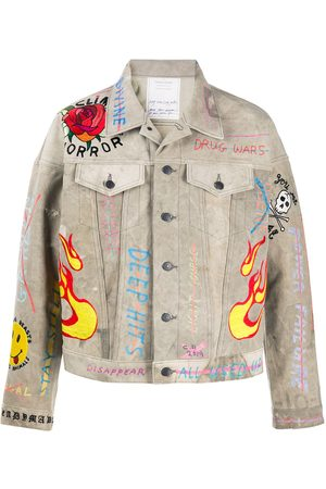 READYMADE Embroidered denim jacket - Neutrals