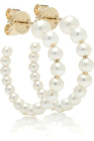 SOPHIE BILLE BRAHE Marco 14kt gold and pearl hoop earrings